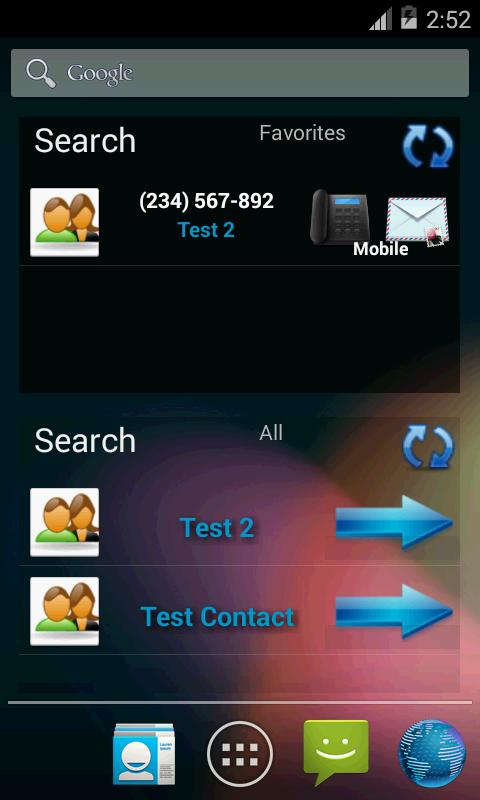 Επαφές σε λίστα (widget) - screenshot