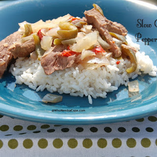 Slow Cooker Pepper Steak.