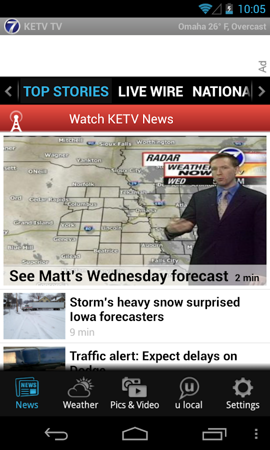 KETV 7 TV - news and weather - screenshot
