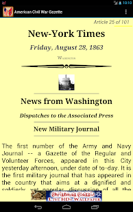 1863 Aug Am Civil War Gazette - screenshot thumbnail