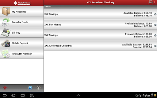 Arrowhead Credit Union Tablet