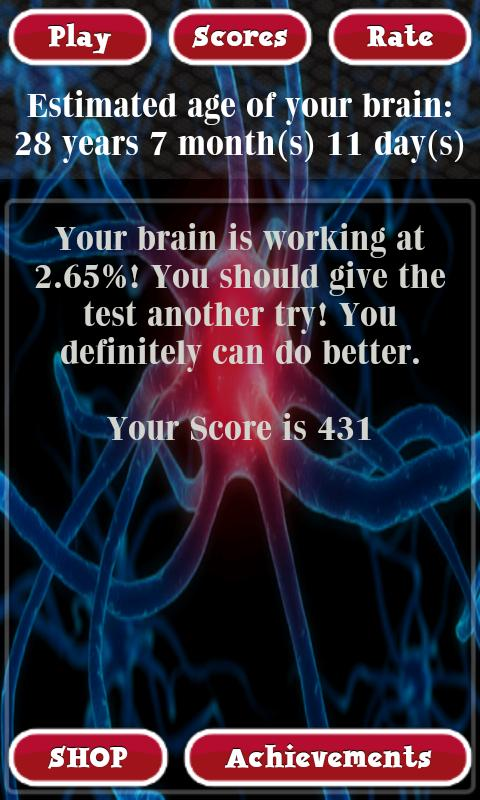 Brain Age Test Free- screenshot
