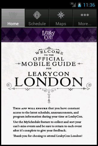 LeakyCon - screenshot