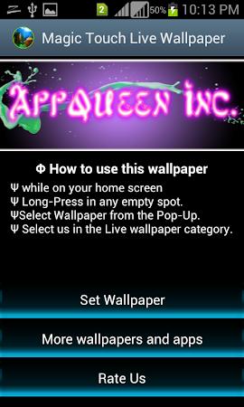 Magic Touch Live Wallpapers 12 Screenshot 1560602