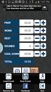 HIIT interval training timer - screenshot thumbnail