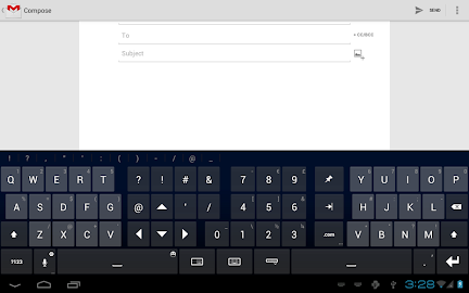 Thumb Keyboard Screenshot 1