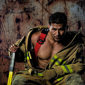 Fire Fighter  by Steve Forbes - People Portraits of Men (  )