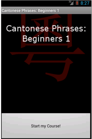 Cantonese Phrases: Beginners 1