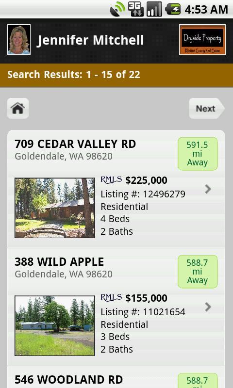 Klickitat County Real Estate- screenshot