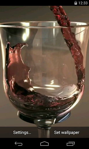 Glass of Wine Video LWP