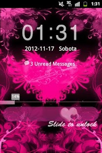 GO Locker Theme Pink Hearts- screenshot thumbnail