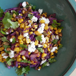Warm Red Cabbage and Corn Salad.