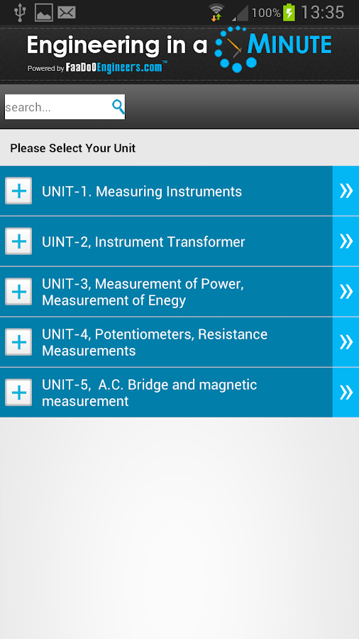 Electrical Measurements - screenshot