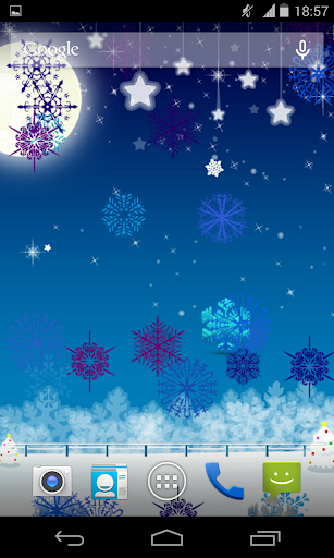 Snowman Snowflakes LWP