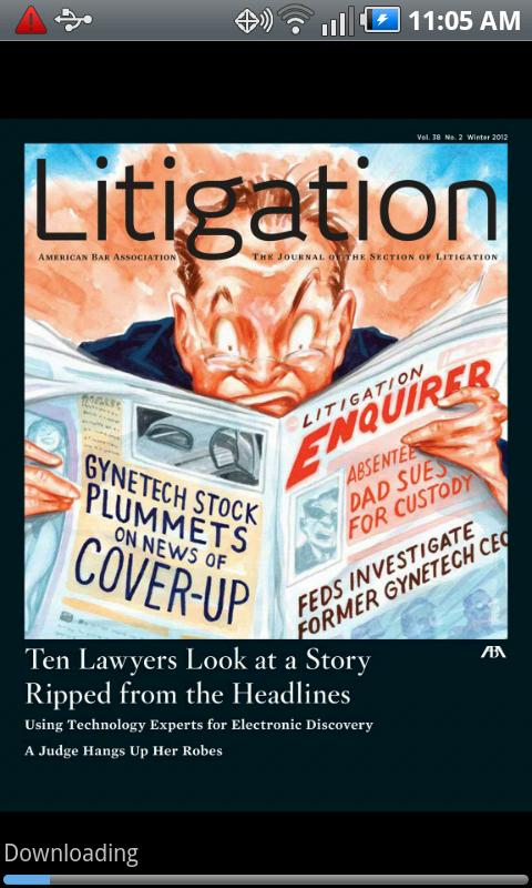 Litigation- screenshot