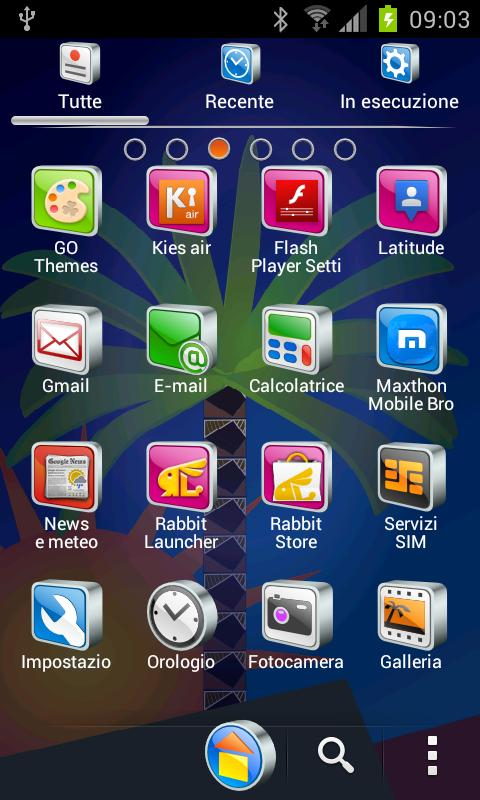 DREAM theme GO Launcher EX - screenshot