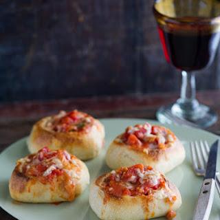 Mini Garlic and Mozzarella Bread Bowls.