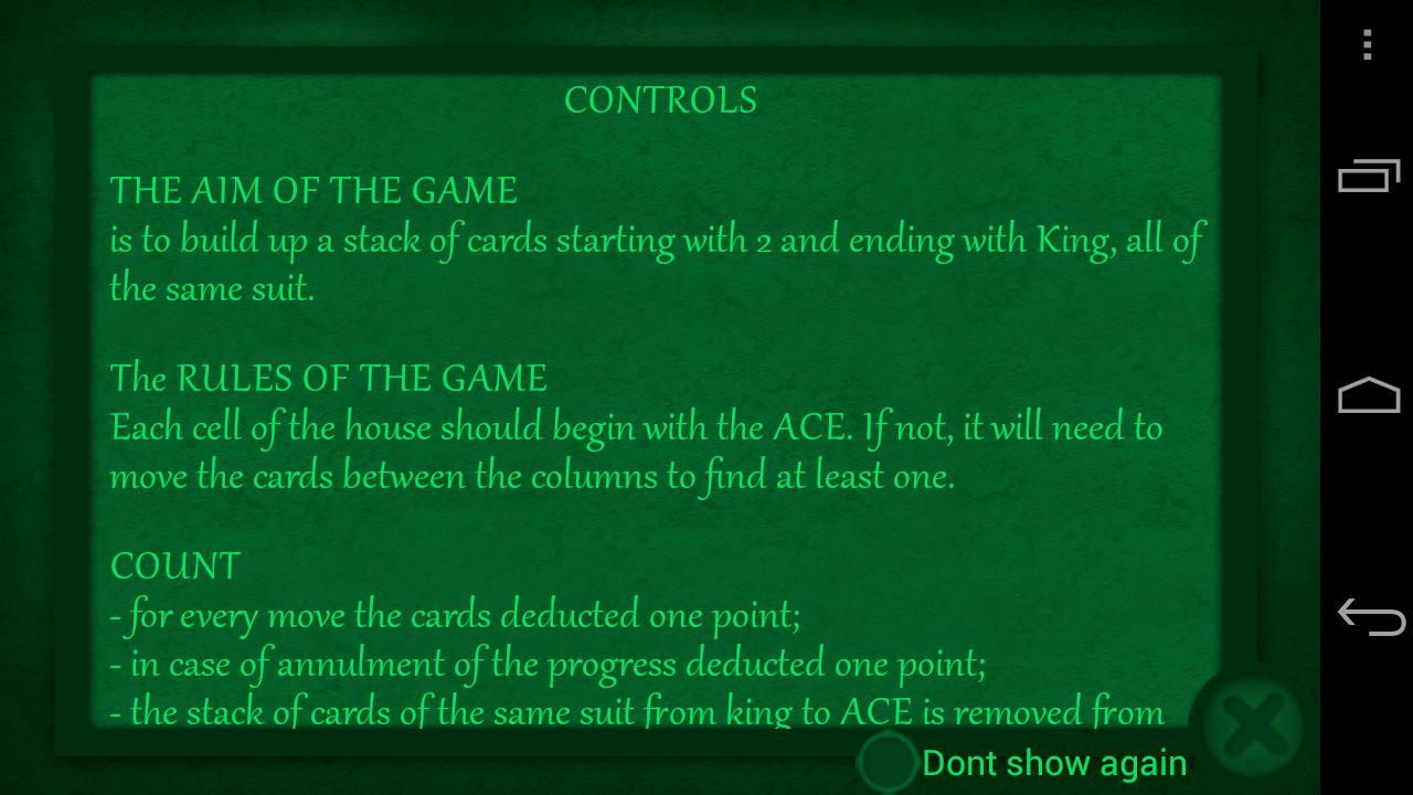 Spider Solitaire Game Free - screenshot