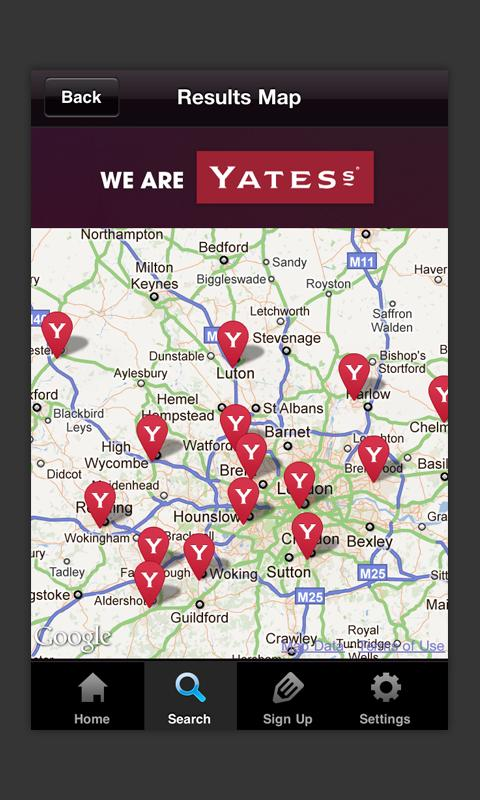 Yates's Pubs - screenshot