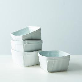 Porcelain Fruit Baskets (Set of 4)