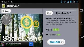 Screenshot of SpareCash