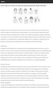Lenguaje corporal y Gestos