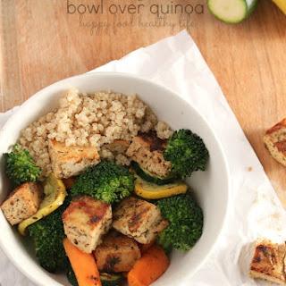 Marinated Tofu & Vegetable Bowl over Quinoa.