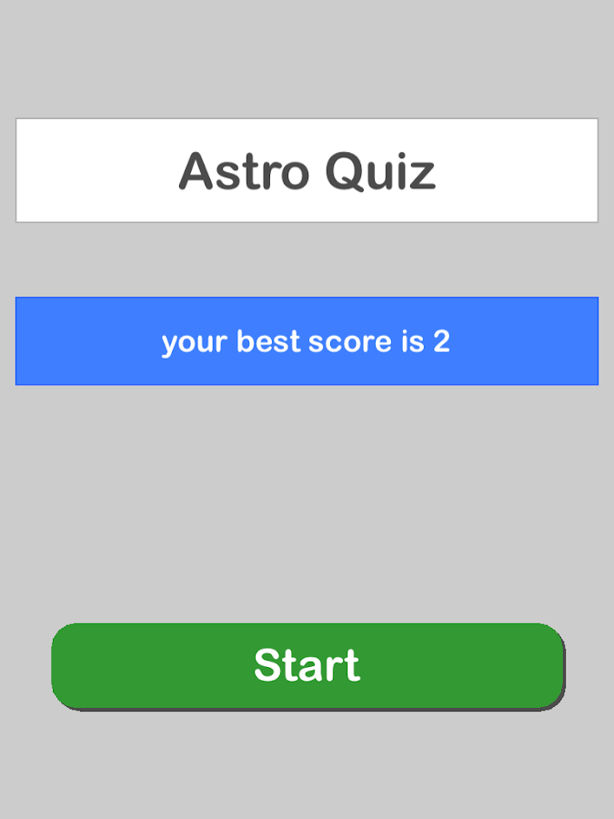 Astro Quiz- screenshot