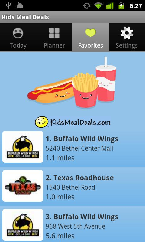 Kids Meal Deals - screenshot