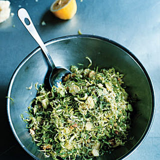 Shaved Brussels Sprout Salad with Fresh Walnuts and Pecorino