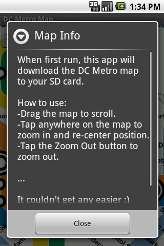 DC Metro Map - screenshot