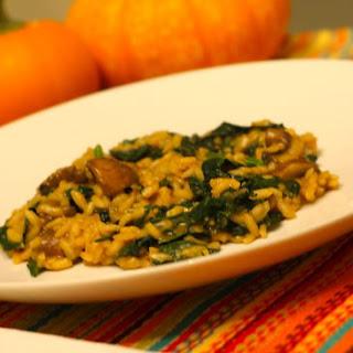 Pumpkin and Mushroom Risotto.