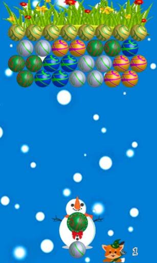 Snowman Bubble Shooter
