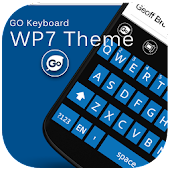 GO Keyboard WP7 WP8 Blue Black