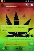 Screenshot of GO SMS Pro Theme Weed Ganja