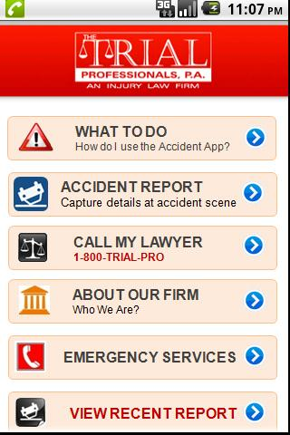 Accident App by 1800TRIALPRO - screenshot