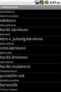 Eesti kahepaiksed- screenshot thumbnail