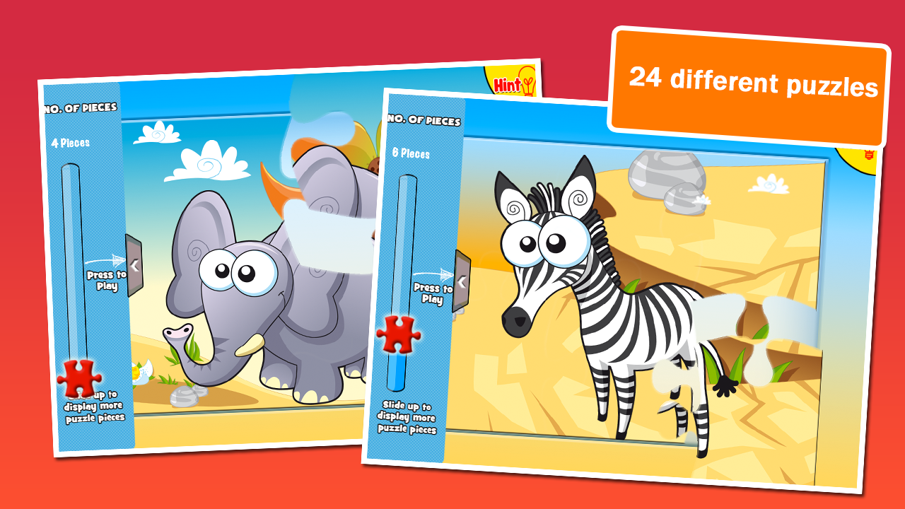 Preschool Puzzles: Animals - screenshot