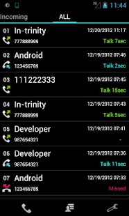 Slide Call-log - screenshot thumbnail