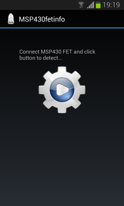 MSP430fetinfo - screenshot