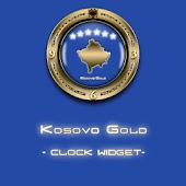 KOSOVO GOLD Clock Widget