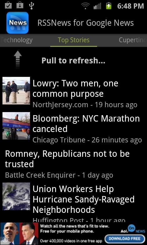 SNews - Google News Reader - screenshot