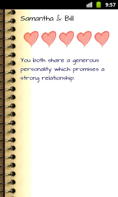 Love Compatibility Horoscope - screenshot