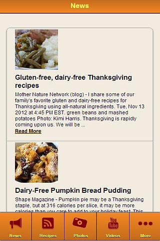 Dairy Free Recipes - screenshot