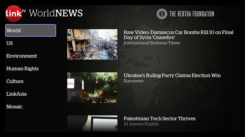 LinkTV World News - screenshot
