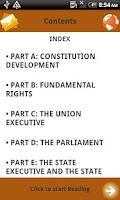 Screenshot of Notes on Constitution of India