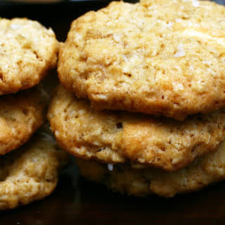 Crisp Salted Oatmeal White Chocolate Cookies.