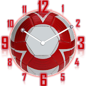 Analog Clock Football Fans