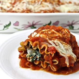 Skinny Vegetarian Lasagna Roll-Ups