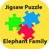 Jigsaw-Elephant Family